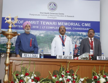 Oral Health Sciences Centre, PGIMER, Chandigarh has organized 'Prof. Amrit Tewari Memorial Continuing Medical Education Programme'